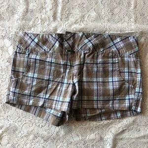 Roxy plaid shorts